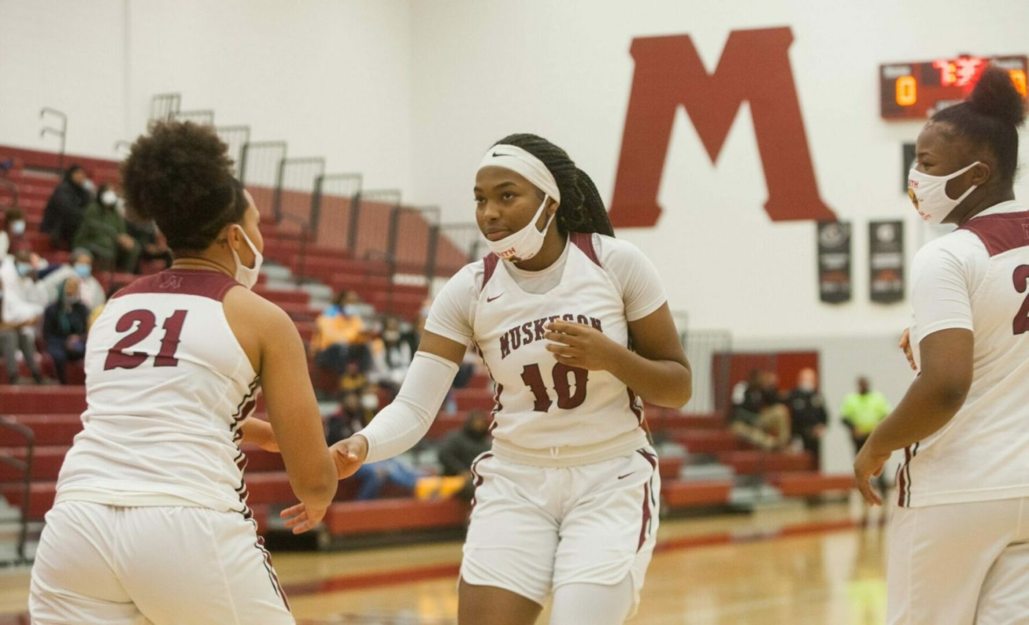 After years of playing with talented older teammates, Muskegon's Kailyn Nash is the Big Reds' go-to girl this season