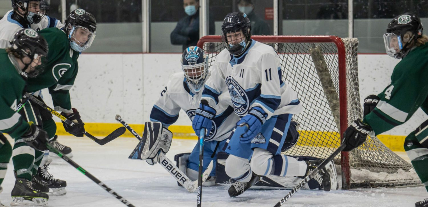 [VIDEO] Trent Benedict scores three goals in opening period, Shores cruises to 7-2 win over Forest Hills Central