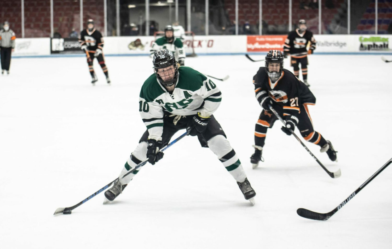 Reeths-Puffer hockey team opens its season on a rough note, falling 8-2 to Rockford at home