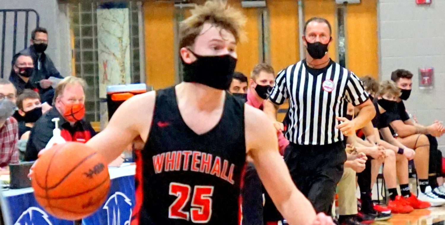 Whitehall boys show off all of their weapons in a big 63-44 victory over archrival Montague