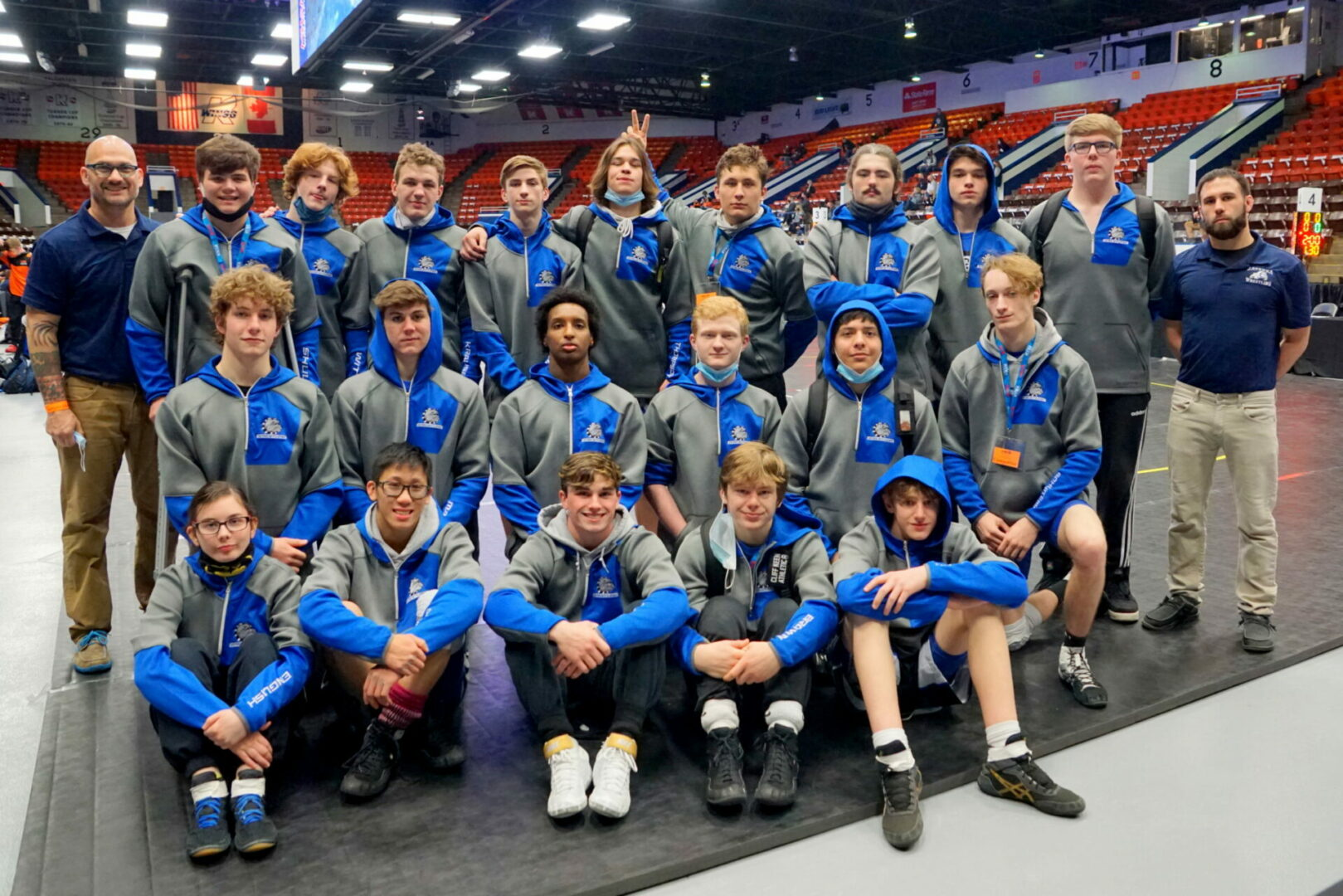 Photos from Ravenna wrestling's team quarterfinal matchup with Clinton on Tuesday