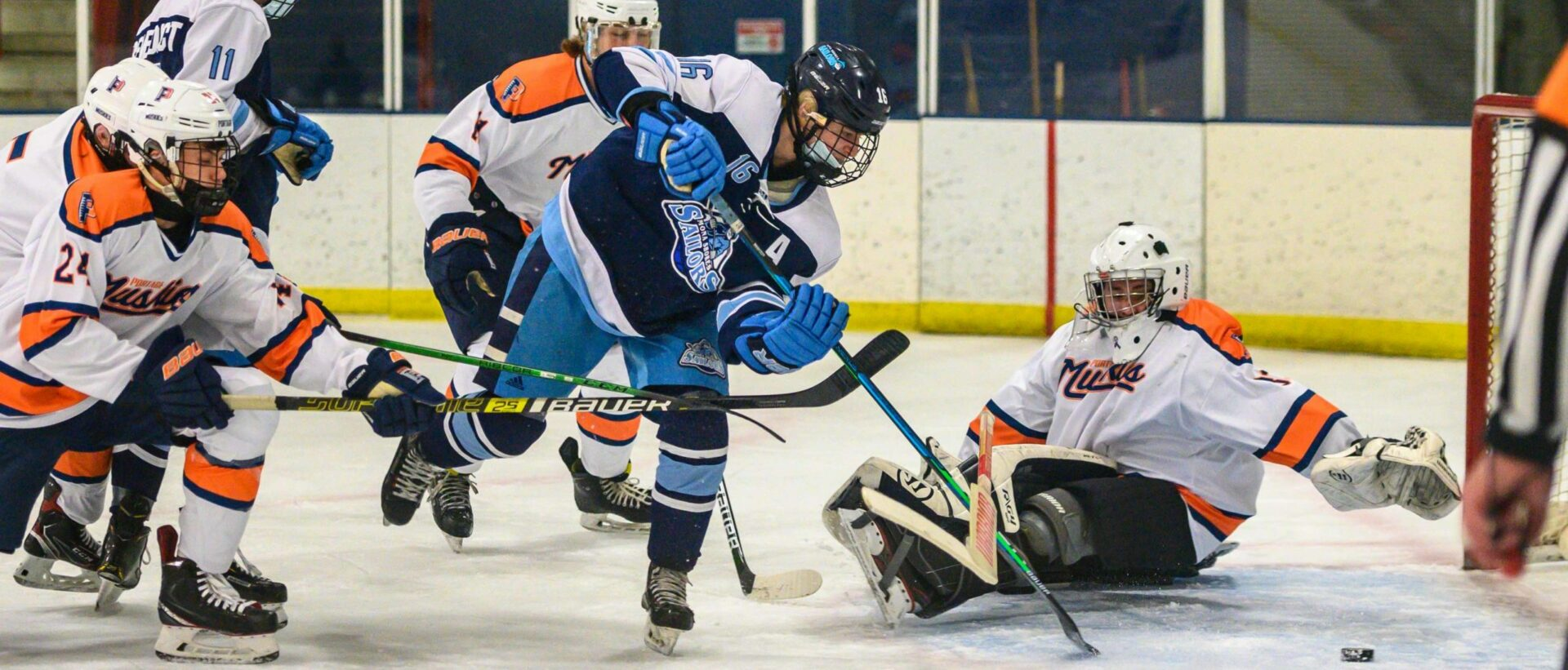 Mona Shores hockey team beats Portage Northern, advances to D2 regional finals, behind four goals from Andrew Taylor