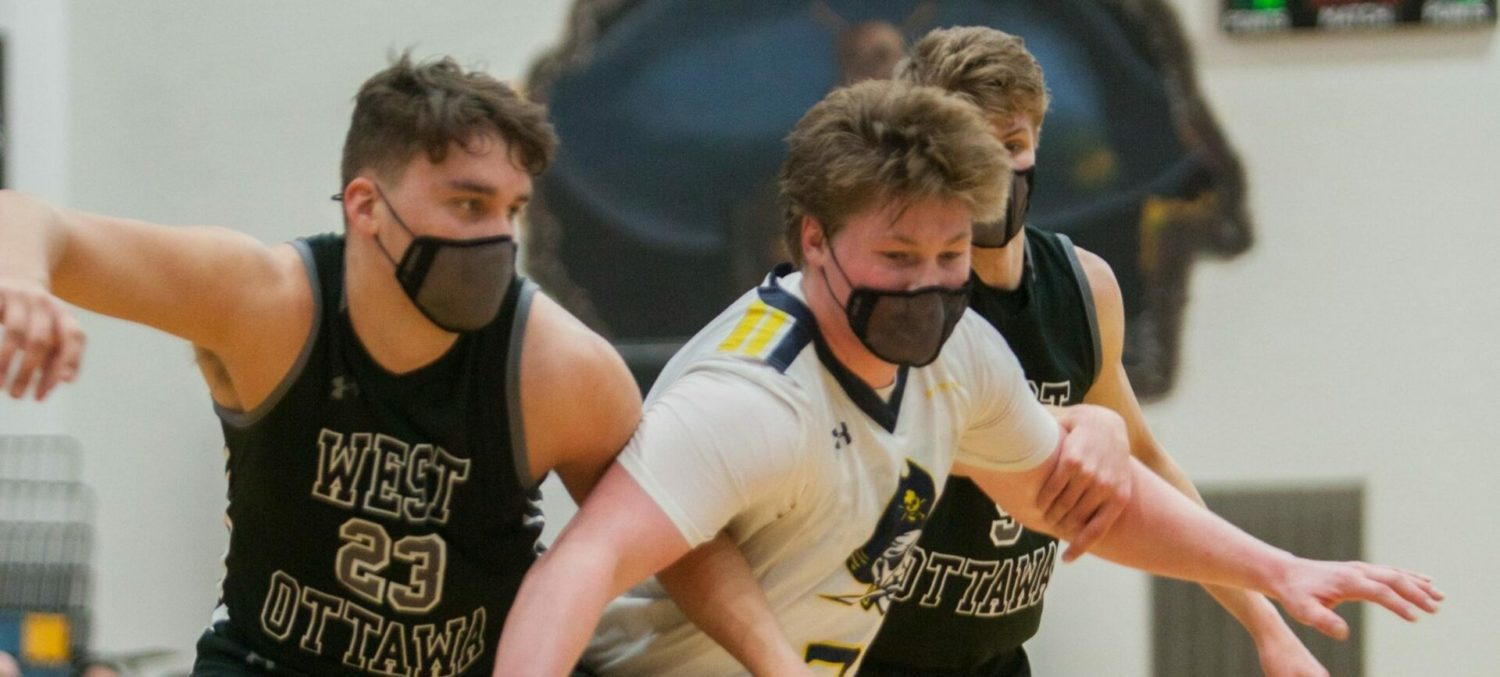 Grand Haven boys lose second straight game, fall into third in conference standings, with a 57-46 loss to West Ottawa