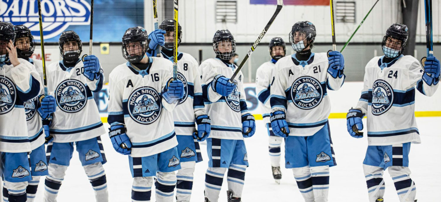 The Mona Shores hockey team, inspired by the tragic loss of a teammate, has plowed out of the gate with a 9-1 record