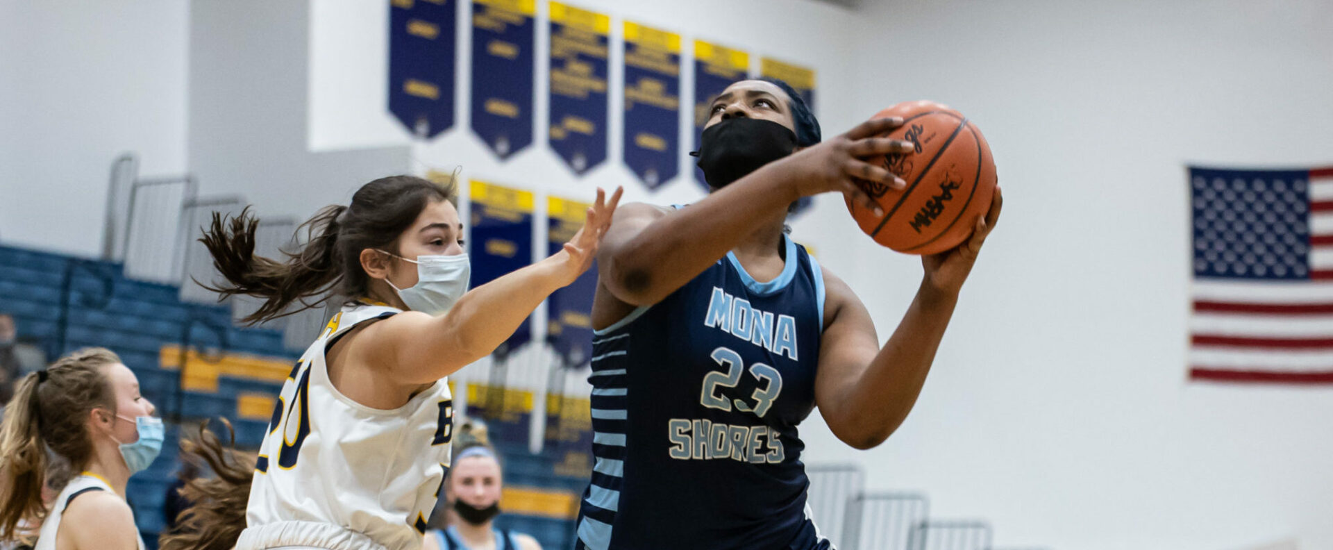 Mona Shores girls get off to a hot start, then roll past host Grand Haven 50-34 in the Division 1 district semifinals