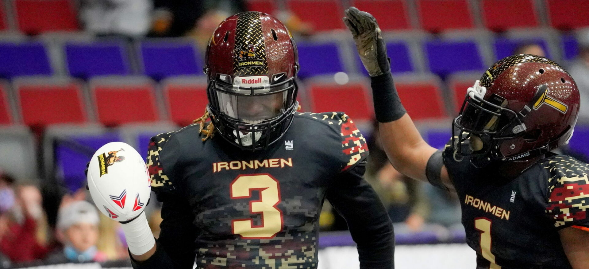 West Michigan Ironmen post second straight shutout victory with a 66-0 pounding of the visiting Carolina Predators
