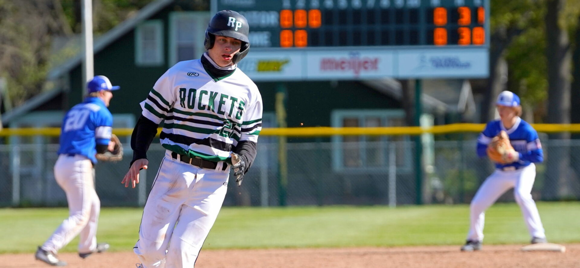 Friday baseball roundup: Reeths-Puffer takes two from Montague under the Friday night lights at Marsh Field