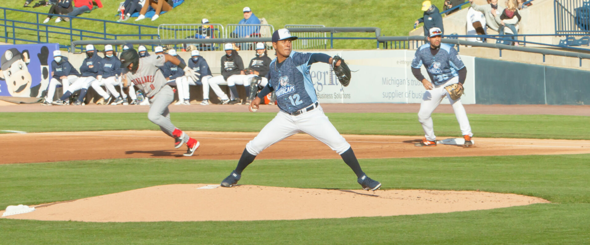 Whitecaps pitchers give up a lot of free passes in a 9-1 loss to the Great Lakes Loons in West Michigan's home opener