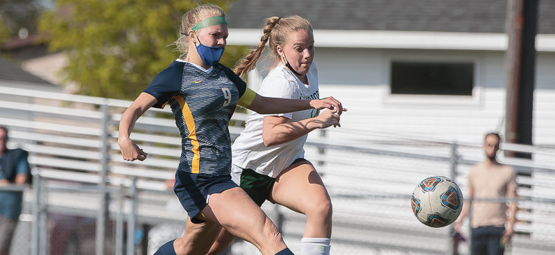 North Muskegon soccer blanks WMC 5-0, but title-hungry Norse were not completely satisfied with their performance