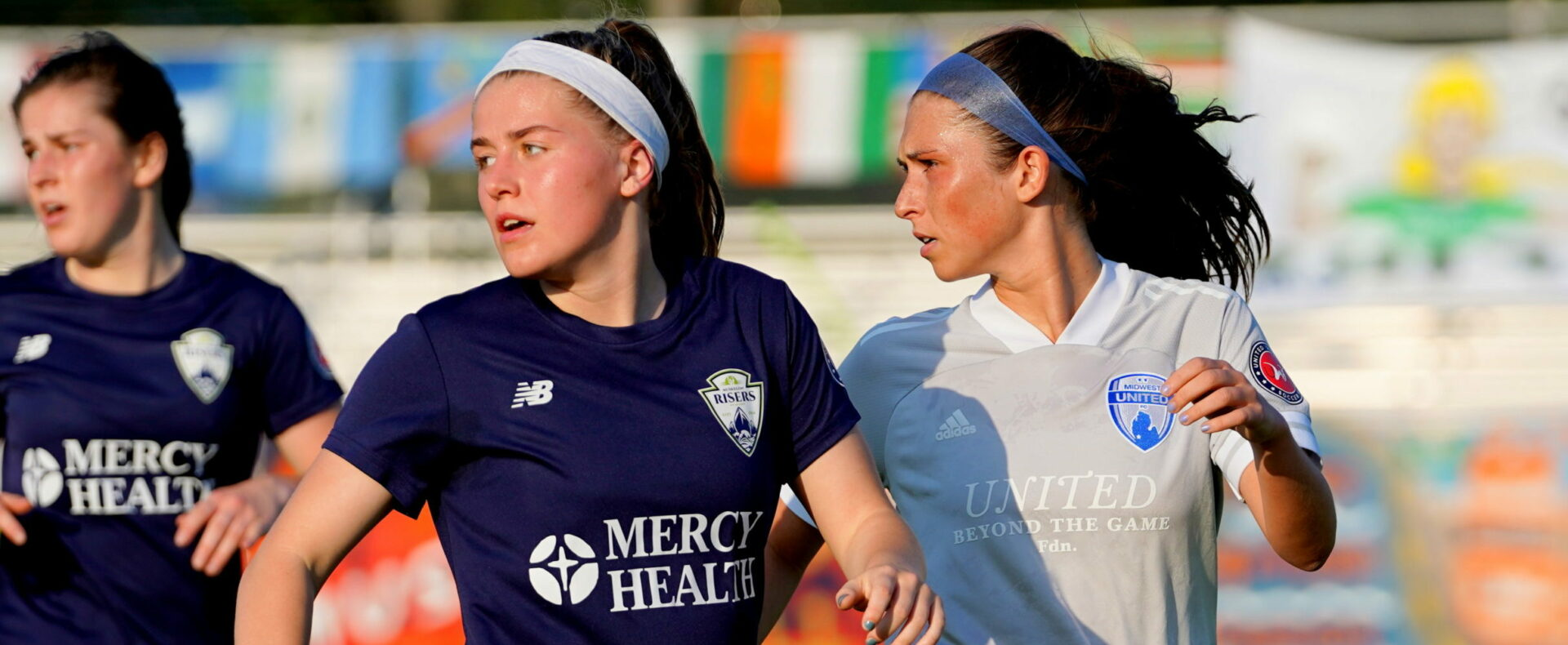 Muskegon Risers women's team puts up a good fight, but falls 3-2 to Midwest United in its inaugural  home game