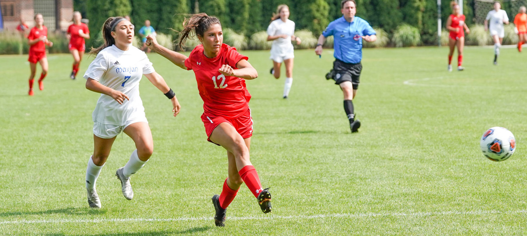 Spring Lake girls soccer team puts up a strong fight in first half, but loses to Bloomfield Hills Marion 3-0 in state finals