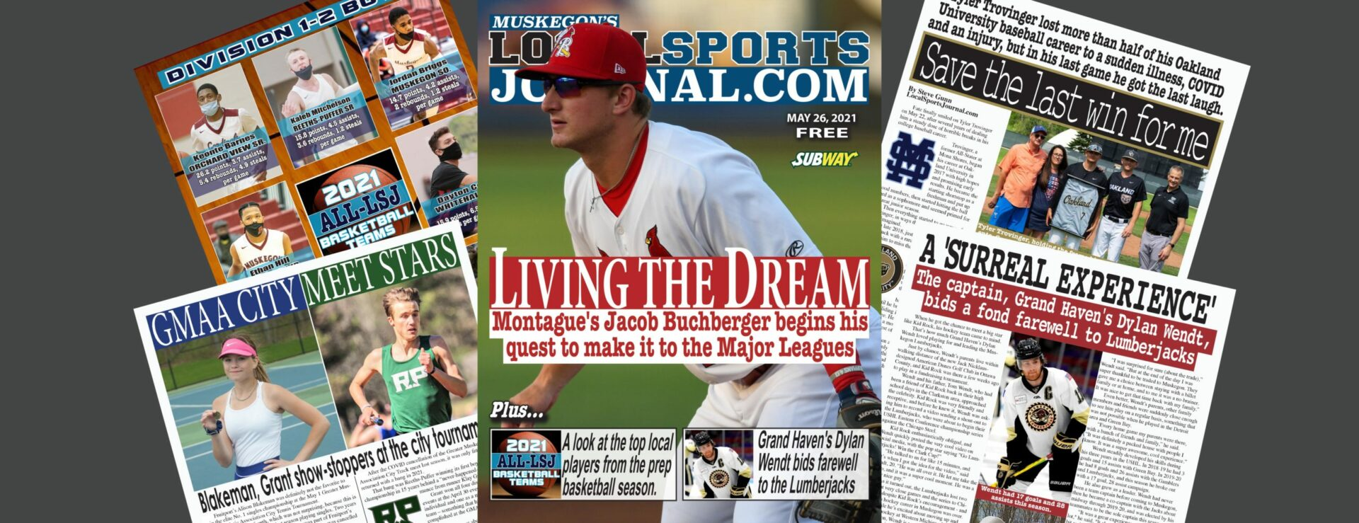 Read about Jacob Buchberger's budding pro baseball career in the most recent LSJ magazine!