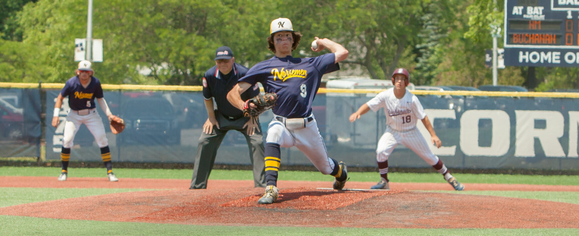 North Muskegon baseball team's great season ends abruptly in a 9-0 loss to top-ranked Buchanan in regional semifinals