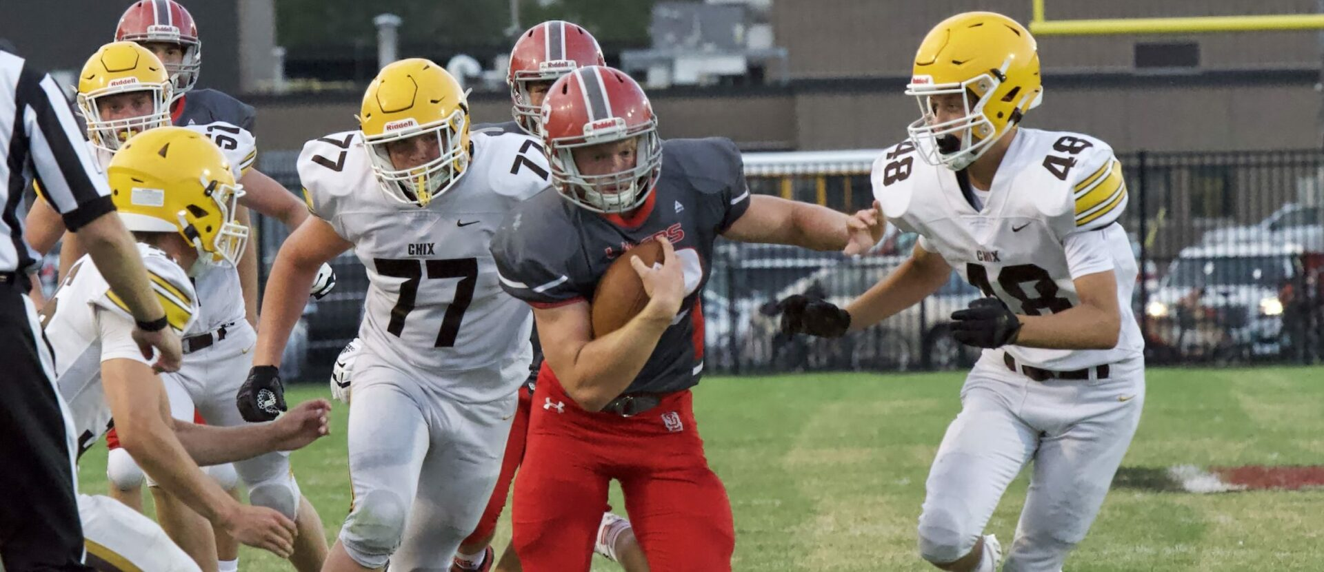 Spring Lake's Christian Folkert pounds down Zeeland East with 4 touchdowns in 56-21 win (PHOTOS)