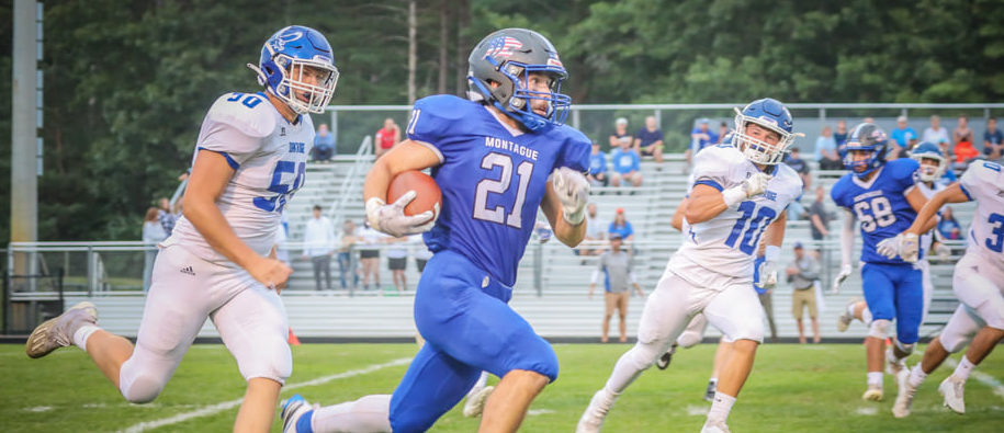 Montague catches Oakridge off guard, runs away with 33-7 win over Eagles