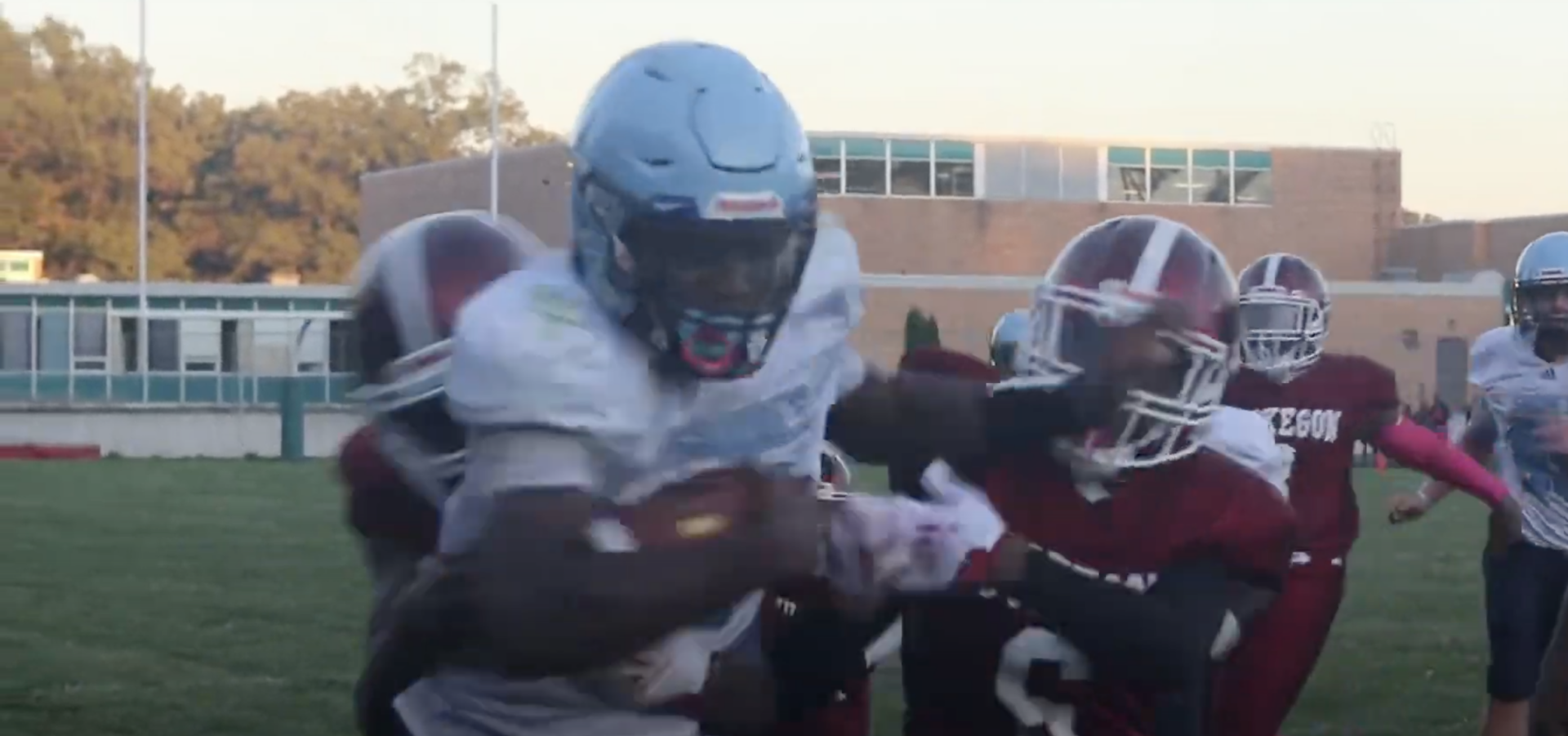 [VIDEO] A thousand fans attend 8th grade football game between Muskegon and Mona Shores
