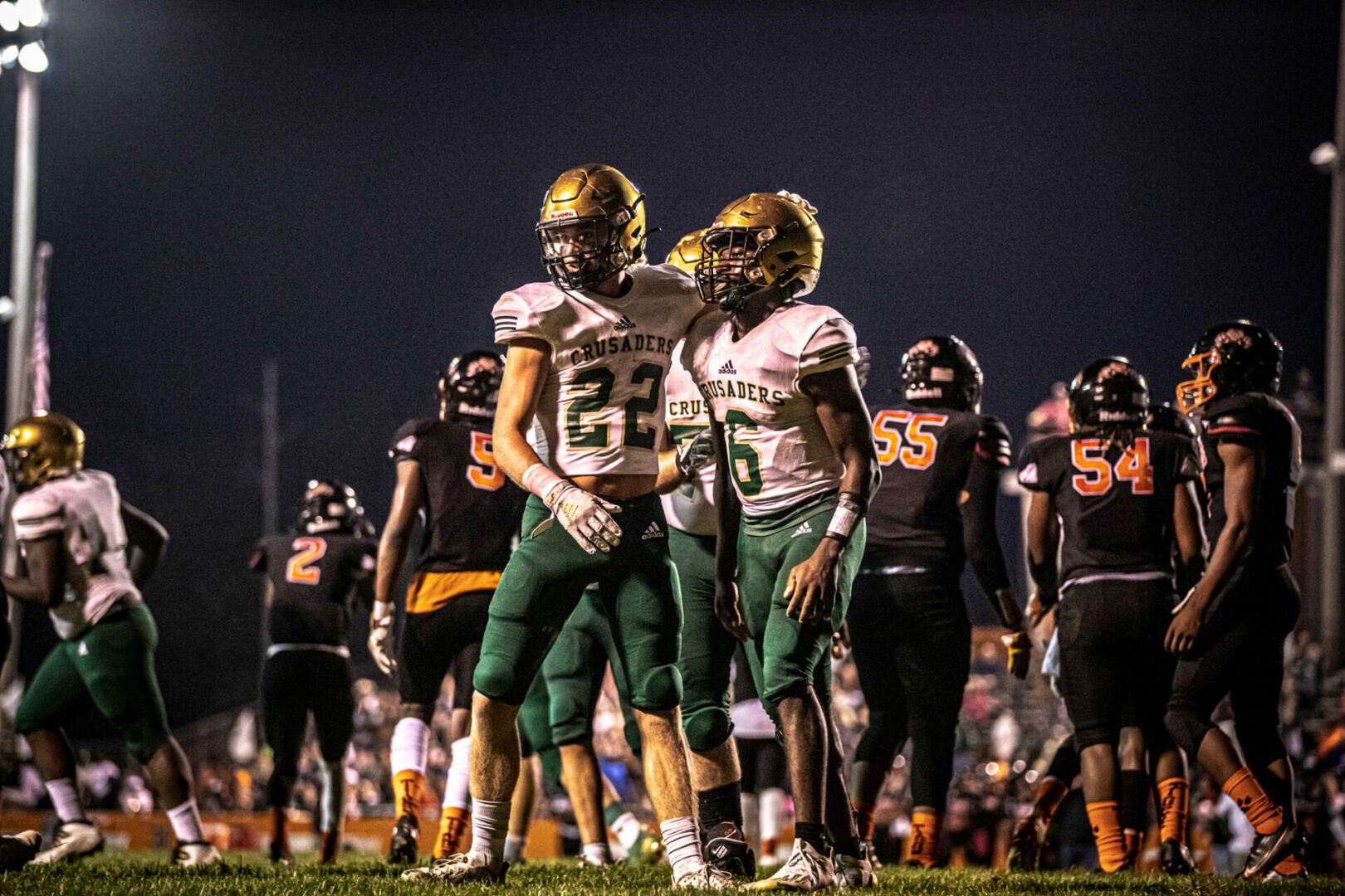[VIDEO] Highlights from Muskegon Catholic's milestone 500th football win on Friday